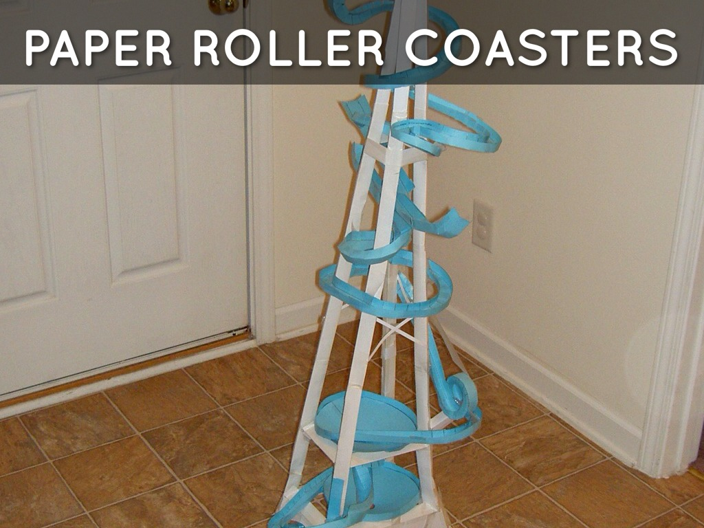 Paper roller coasters by christy busch for Paper roller coaster loop template
