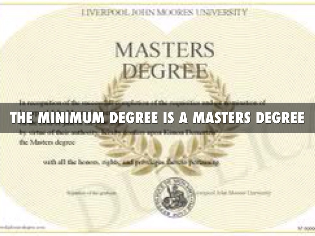 Degree in physical therapy - The Minimum Degree Is A Masters Degree