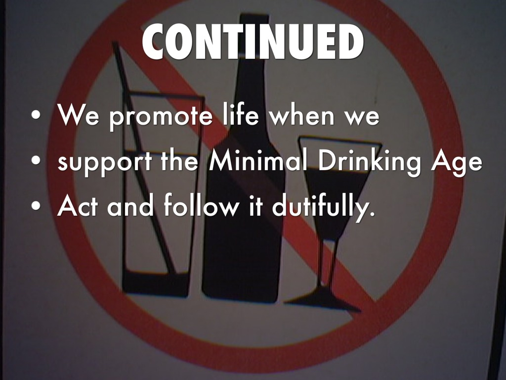 maintaining the drinking age law Age-friendly victoria  the department protects the public by safeguarding drinking water,  alcohol & other drugs  share (show more) listen (show more.