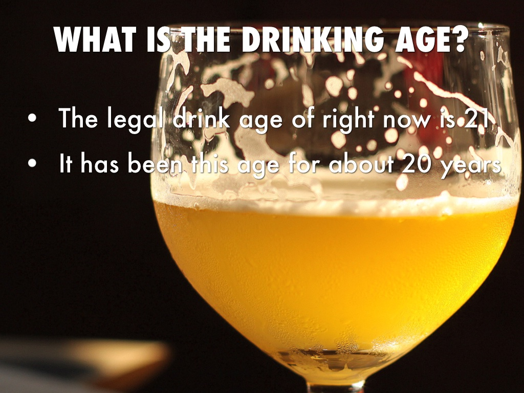 rebuttal on legal drinking age
