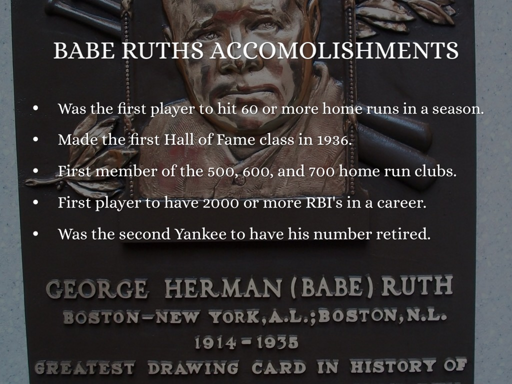 babe ruth the home run to success