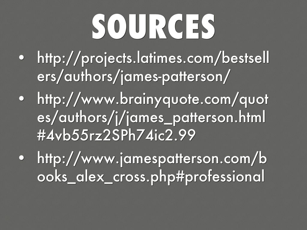 Brainyquotes: Copy Of James Patterson By Tatiana Addonizio