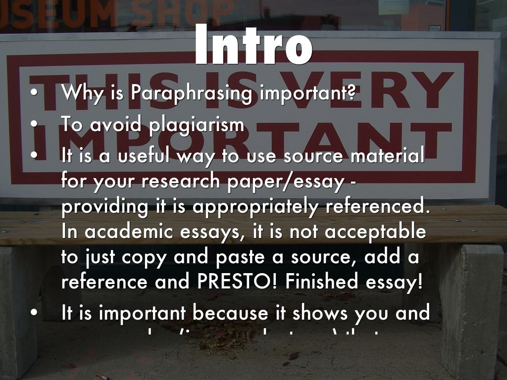 why is paraphrasing useful