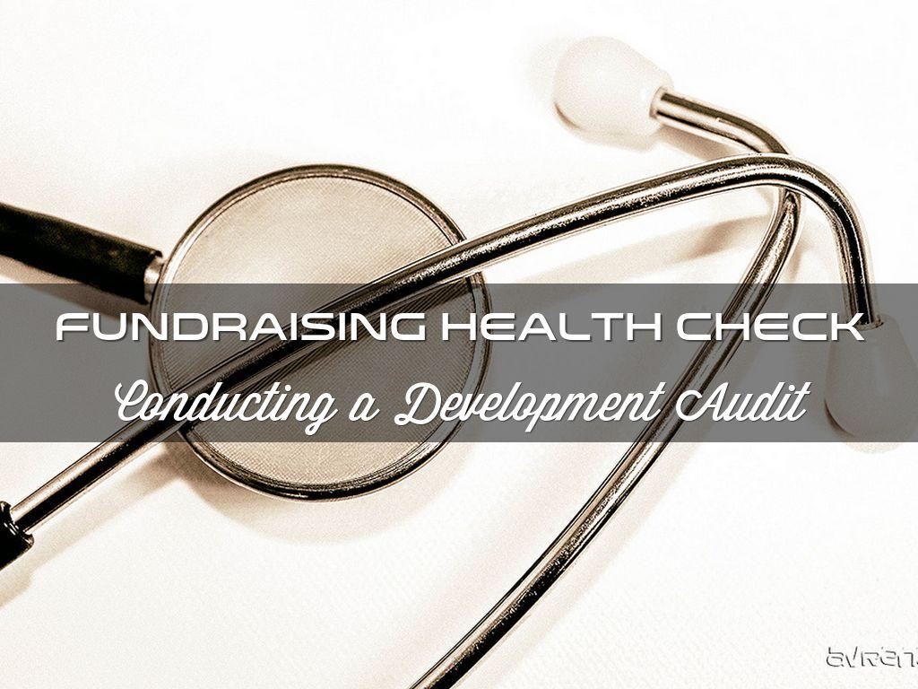 Copie de Fundraising Health Check: Conducting a Development Audit