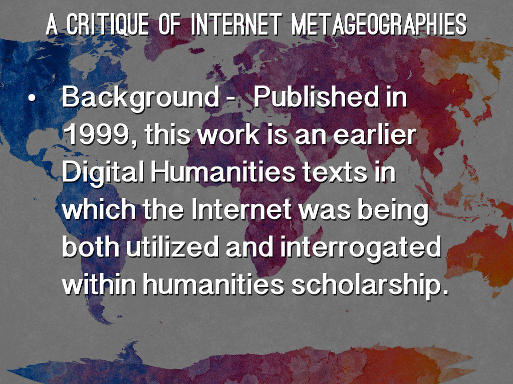 humanities critique