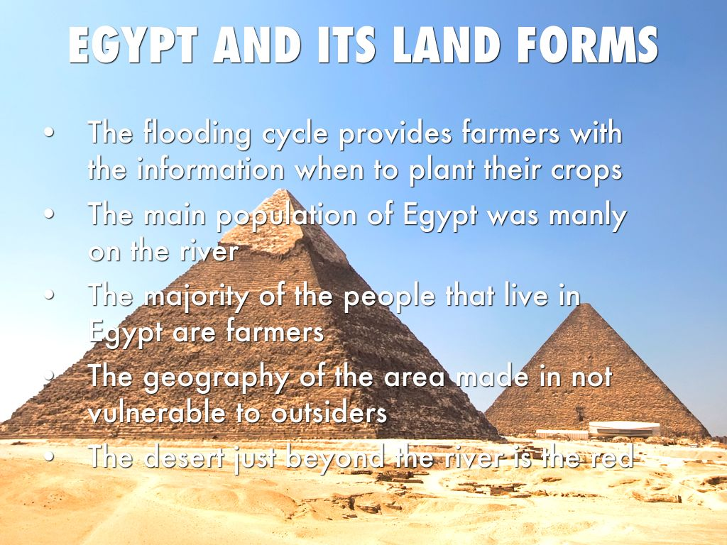 egypt and its geographical features Kids learn about ancient egyptian geography and the nile river the nile provided fertile land, transportation, and building materials for egypt.