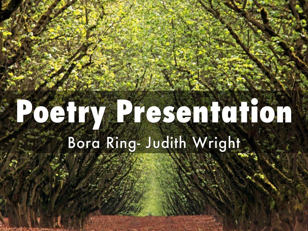 bora ring judith wright analysis