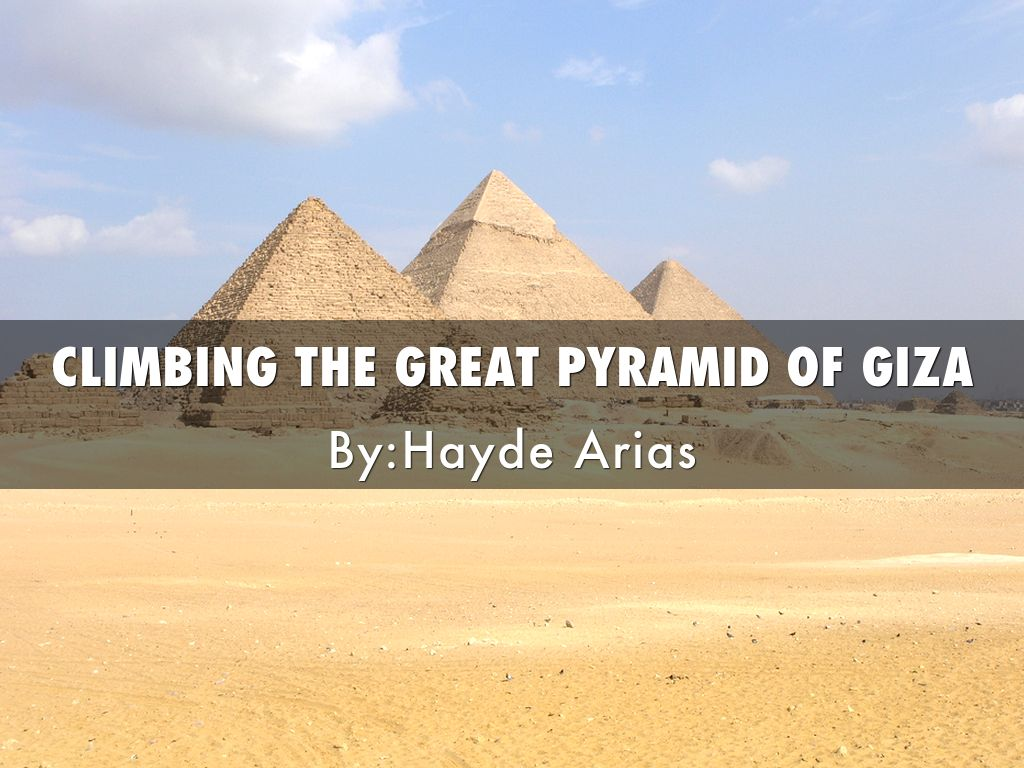 Climbing The Great Pyramid Of Egypt