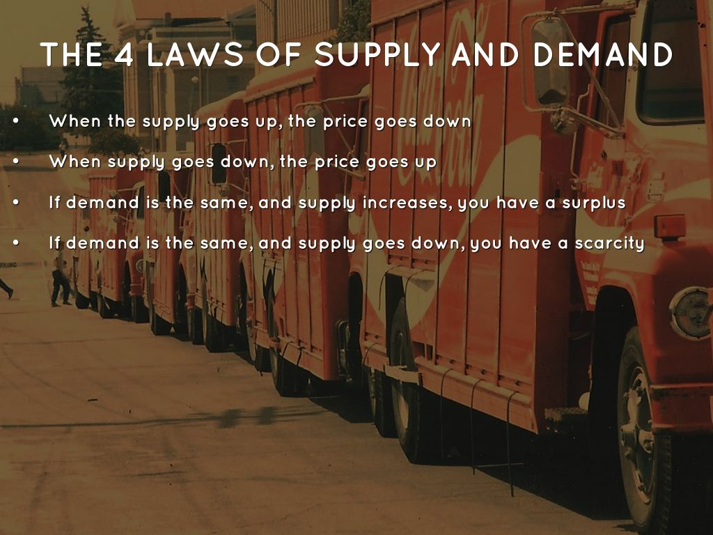 economics supply and demand Shortages of a product usually result in price increases in a market economy   when supply or demand changes, market prices adjust, affecting incentives.