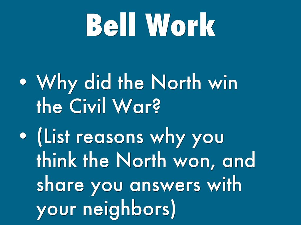 thesis on why the north won the civil war