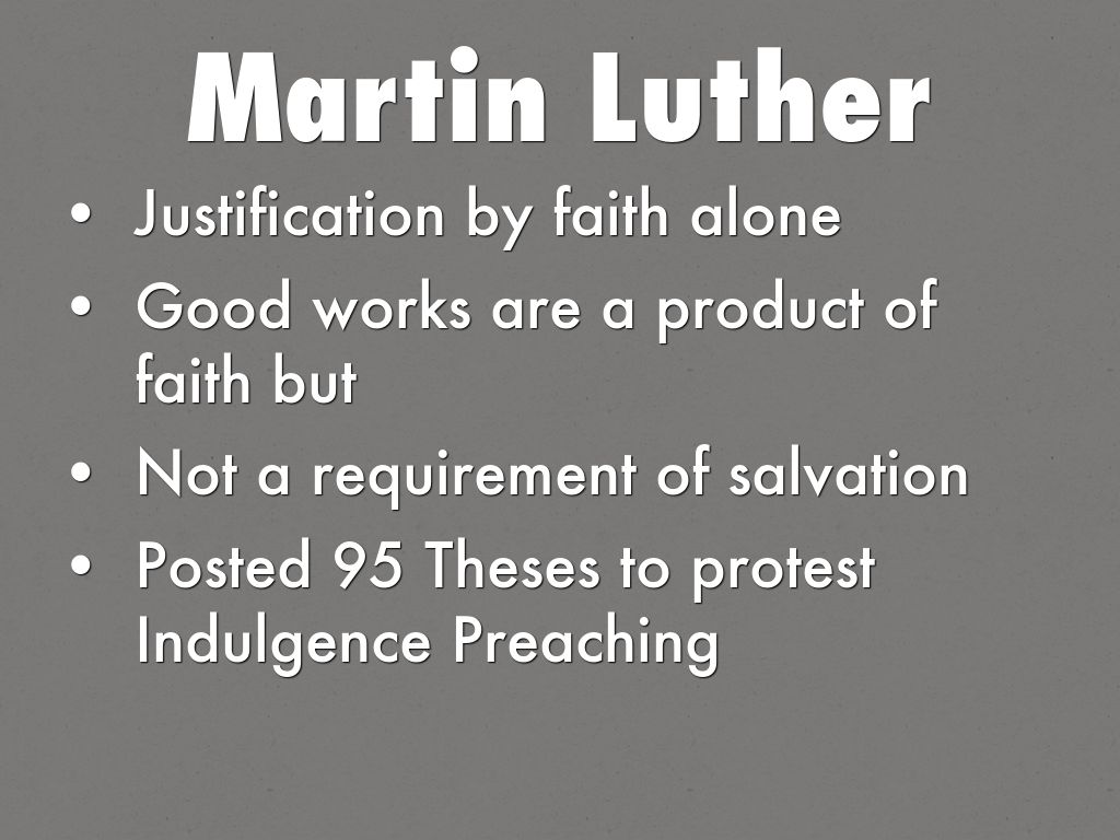 Thesis on justification by faith