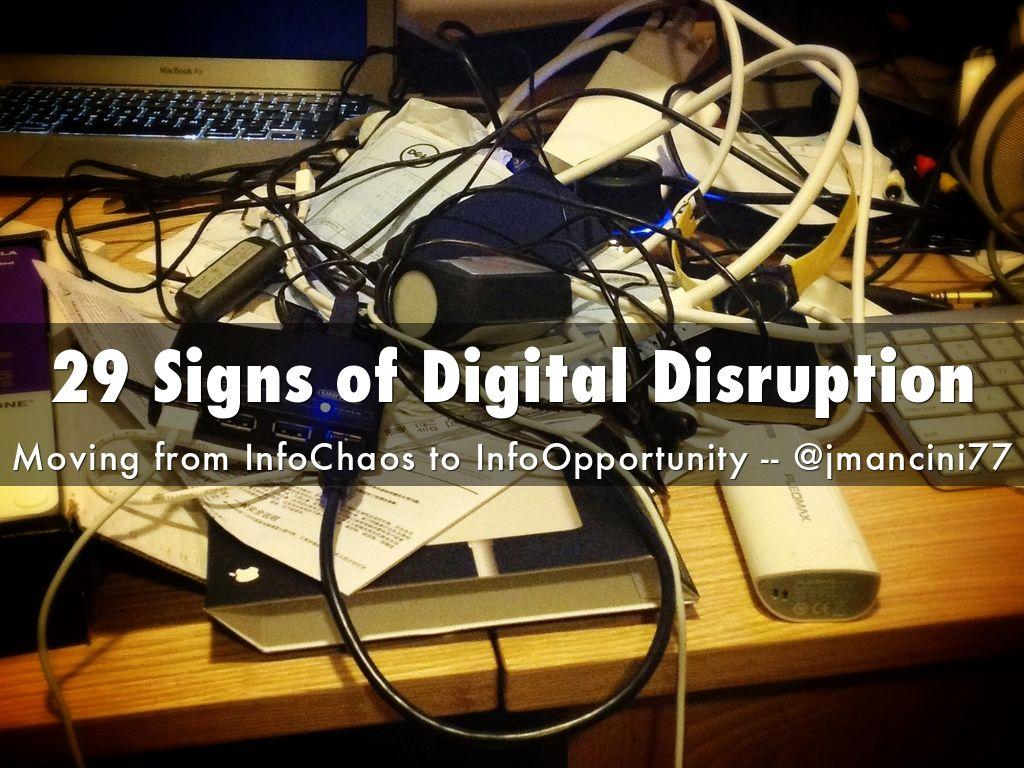 29 Signs of Digital Disruption
