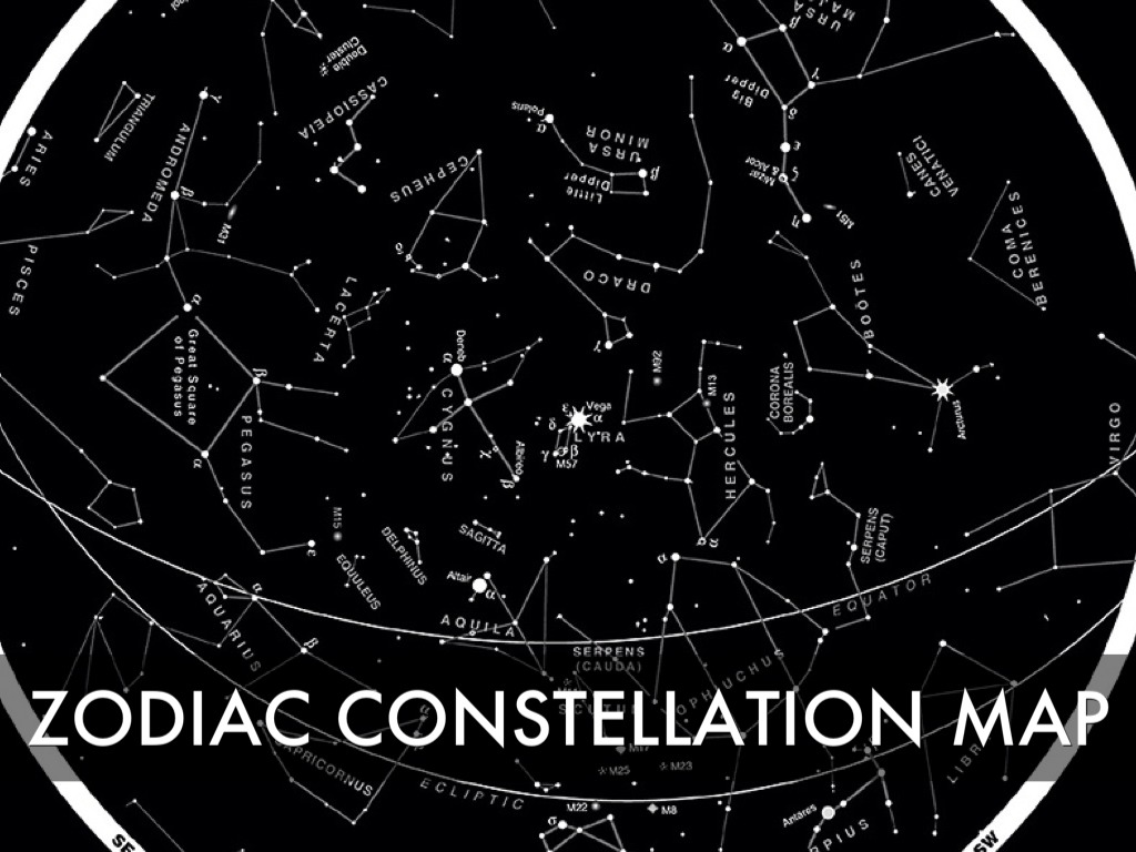 Constellations By Patricia Vu - Zodiac constellations map