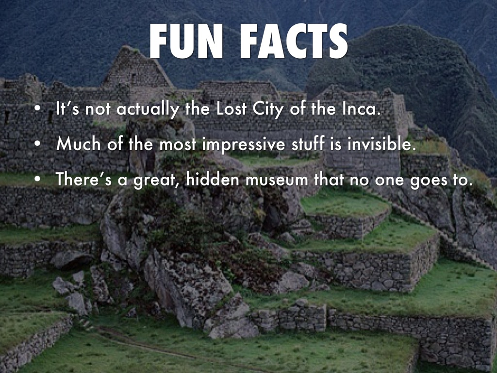 secrets of the lost city of the inca civilization essay