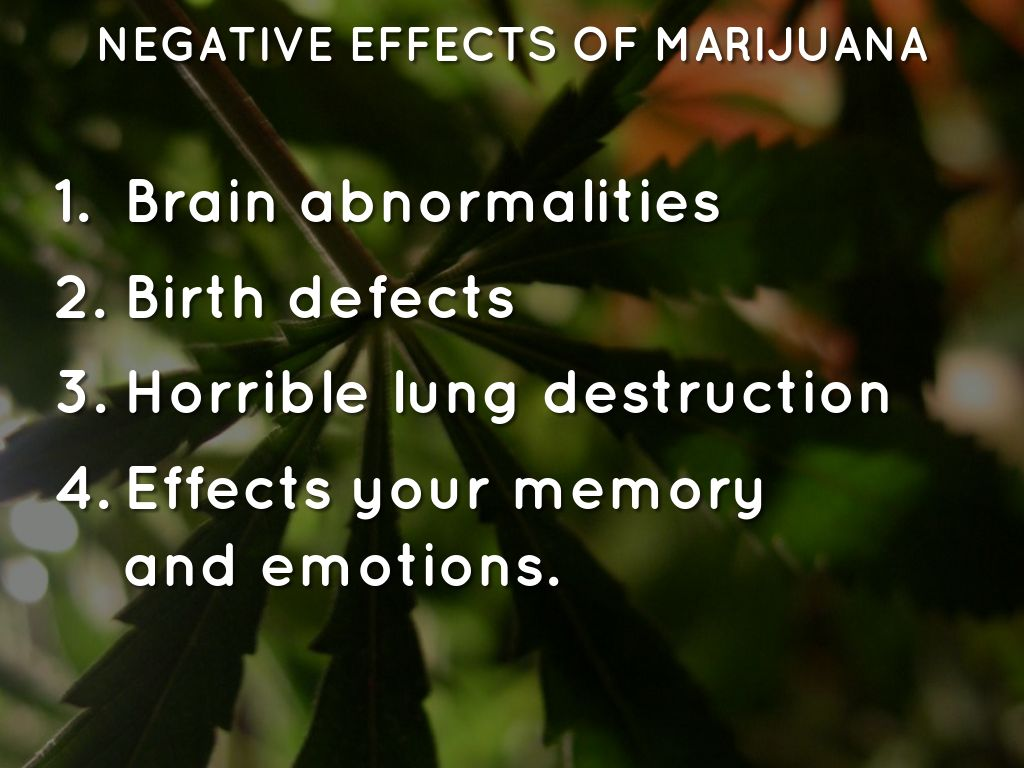 the negative effects of cannabis