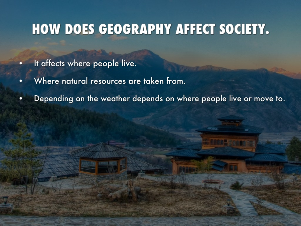 how does geography influence culture How does japan's geography impact its development  japan uses korea as a cultural bridge to china  that is one way geography affect development .