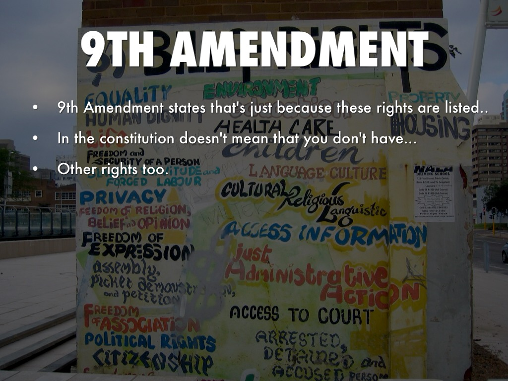 9th amendment Most discussions of the tenth amendment center around using the state legislature to enforce it when the supreme court fails to do so in that situation, the state legislature declares a law null and void within the state's borders.