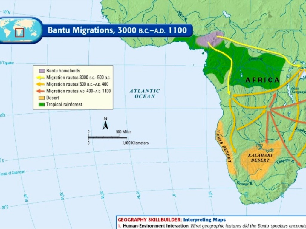 the cause of bantus migration