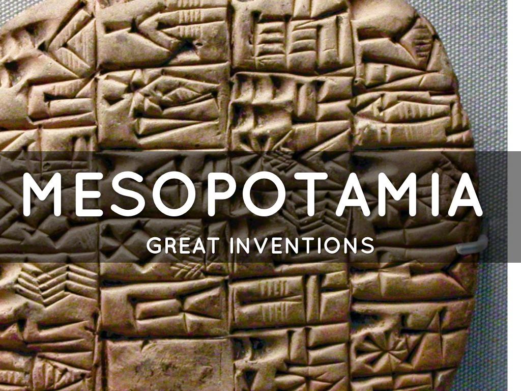 Mesopotamian Inventions by Stewart Bradley