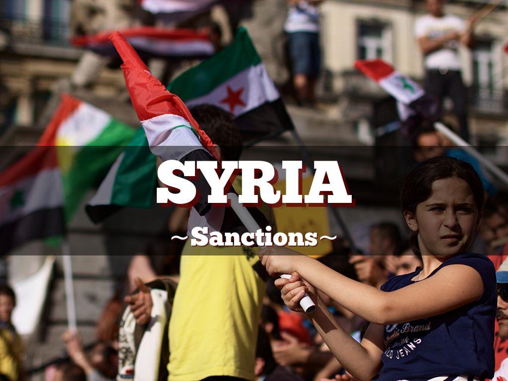 Syria sanctions