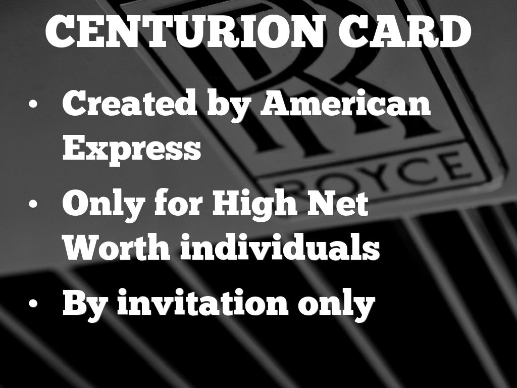 American Express Black Card by Tom Fakes