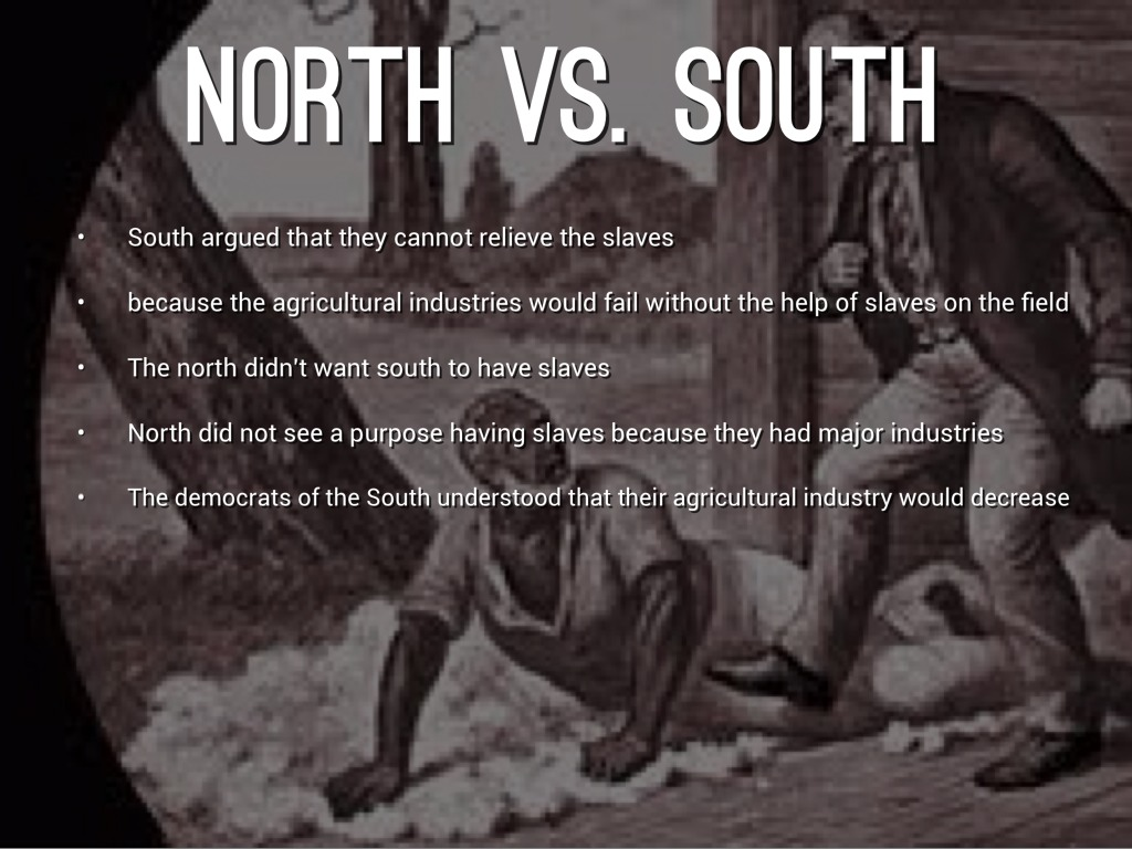 How did slavery in the North differ from the slavery in the South?