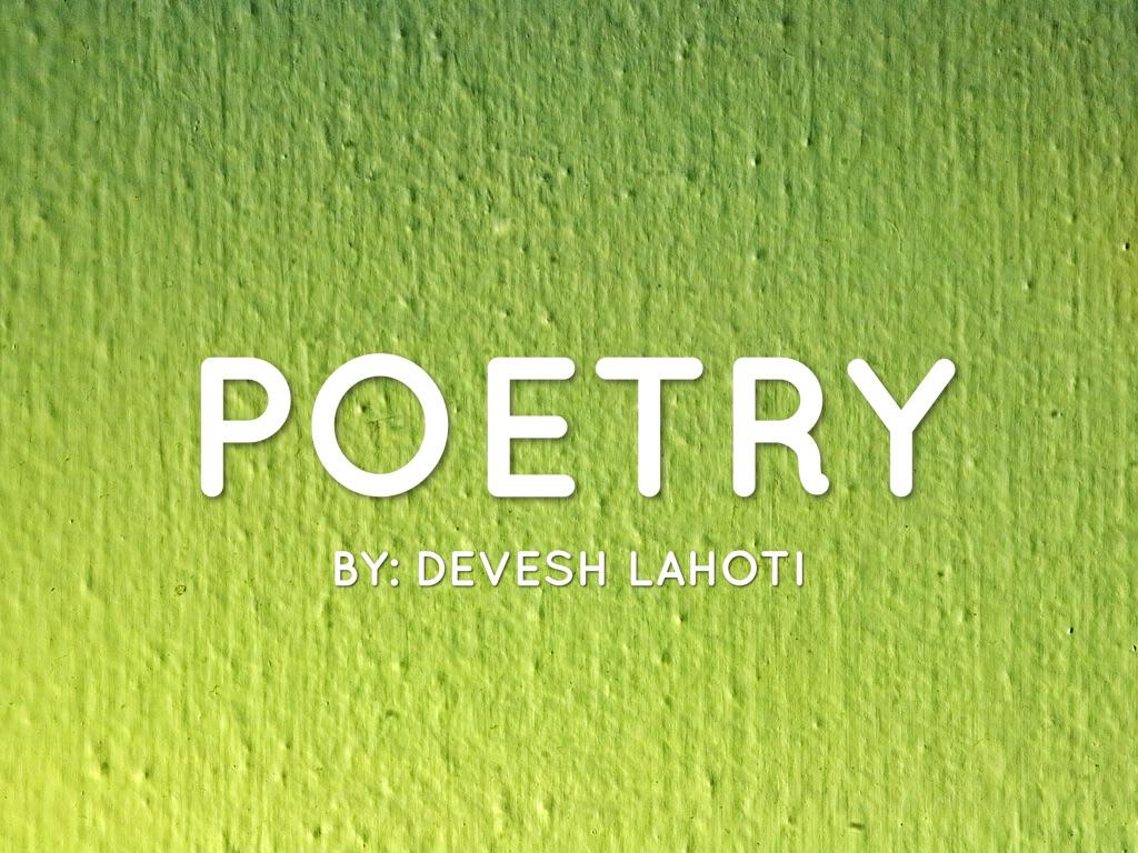 Poetry by Devesh L