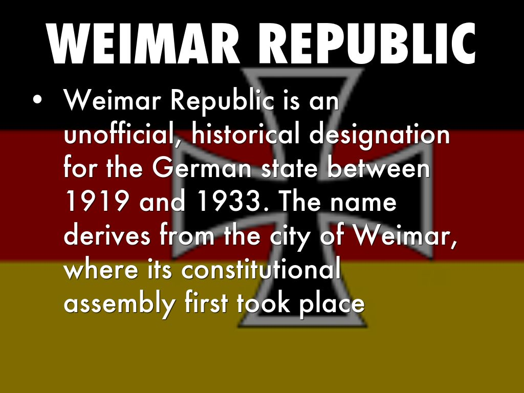 the weimar republic was failed from Why the weimar republic failed is a question that has been explored by countless historians the only established certainty is that the answer is.