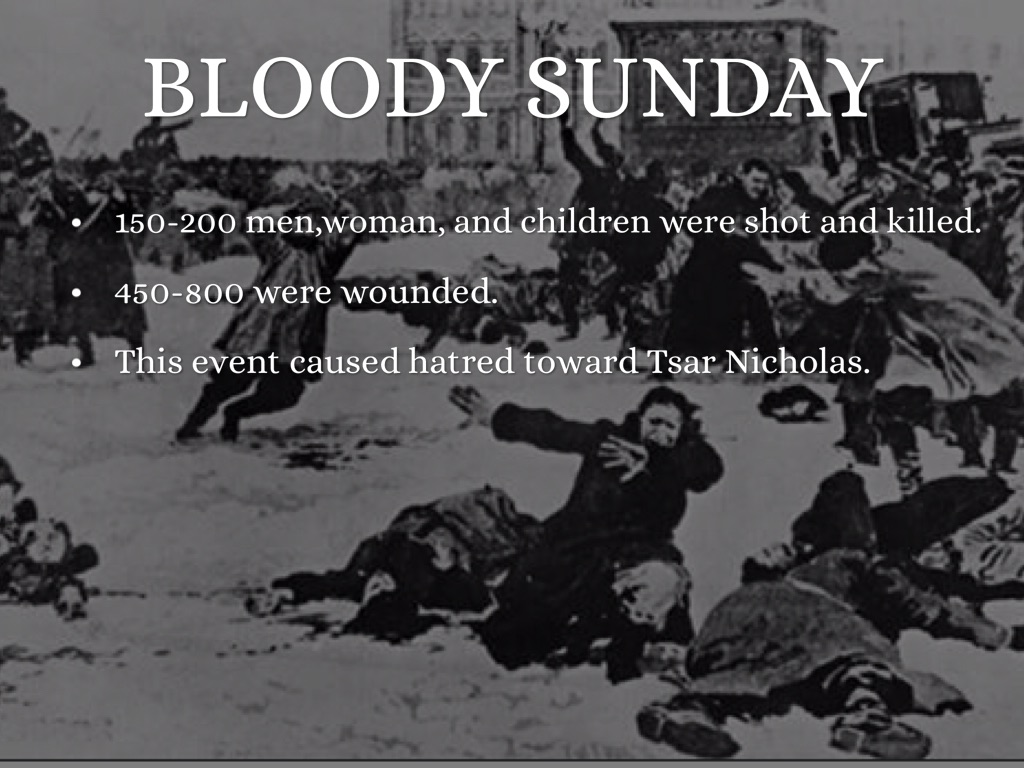 bloody sunday 1905 - essay Perfect for acing essays  the 1905 revolution and its aftermath the 1905  hundreds died in a massacre that came to be known as bloody sunday.