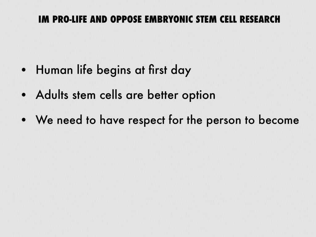 stem cells research paper outline Com345 – informative speech outline people should realize and believe that stem cell research holds enormous potential for com333 research paper.