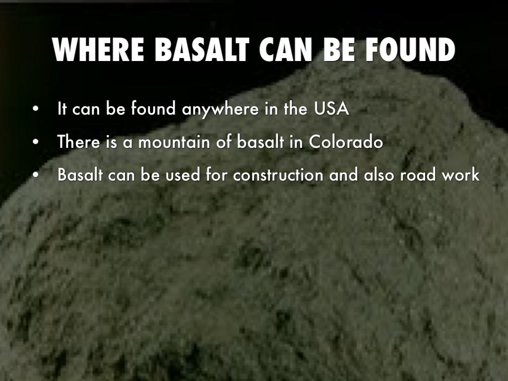 Description Of Basalt : Basalt