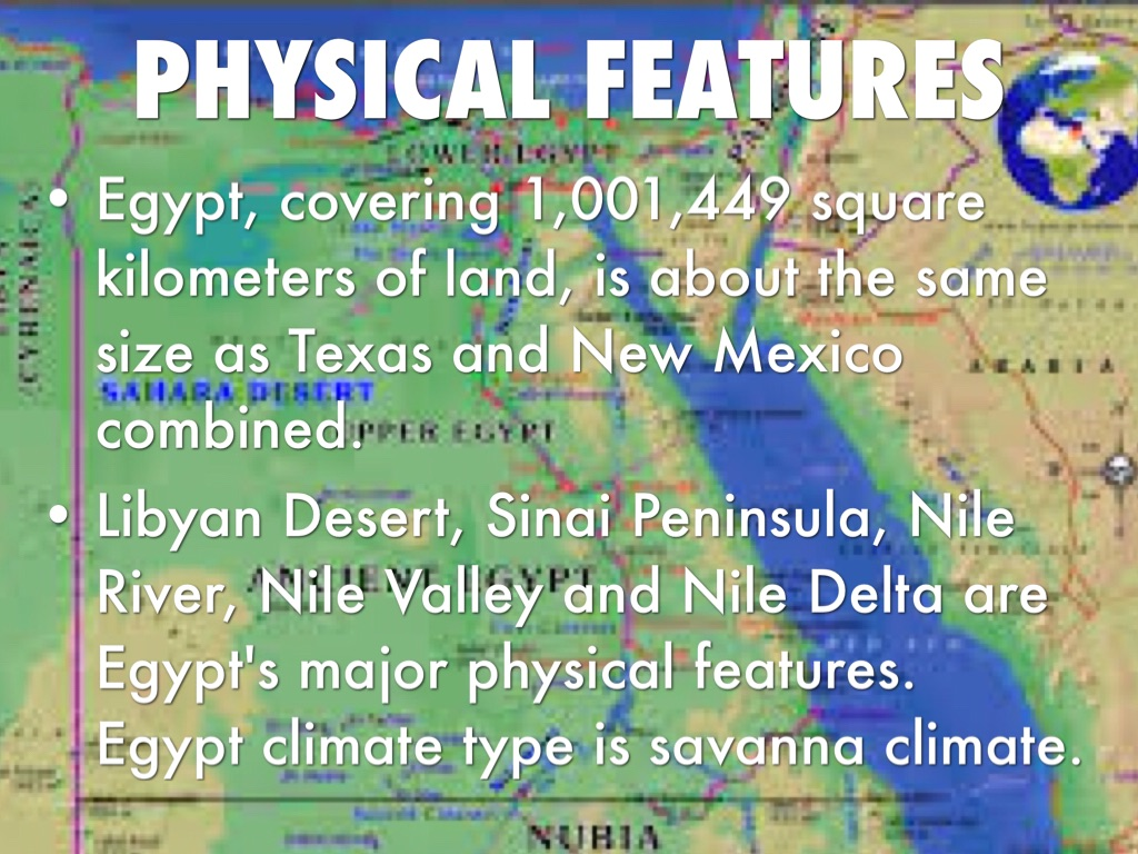 comparing physical features of egypt and