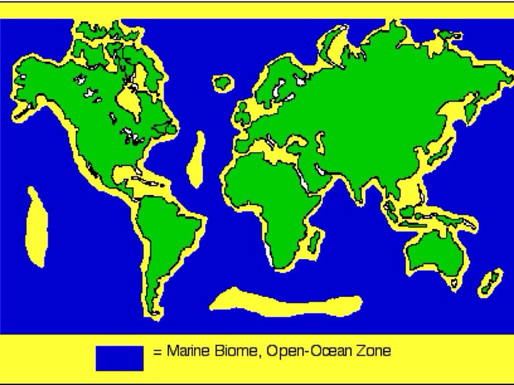 Map Of Marine Biomes World ...
