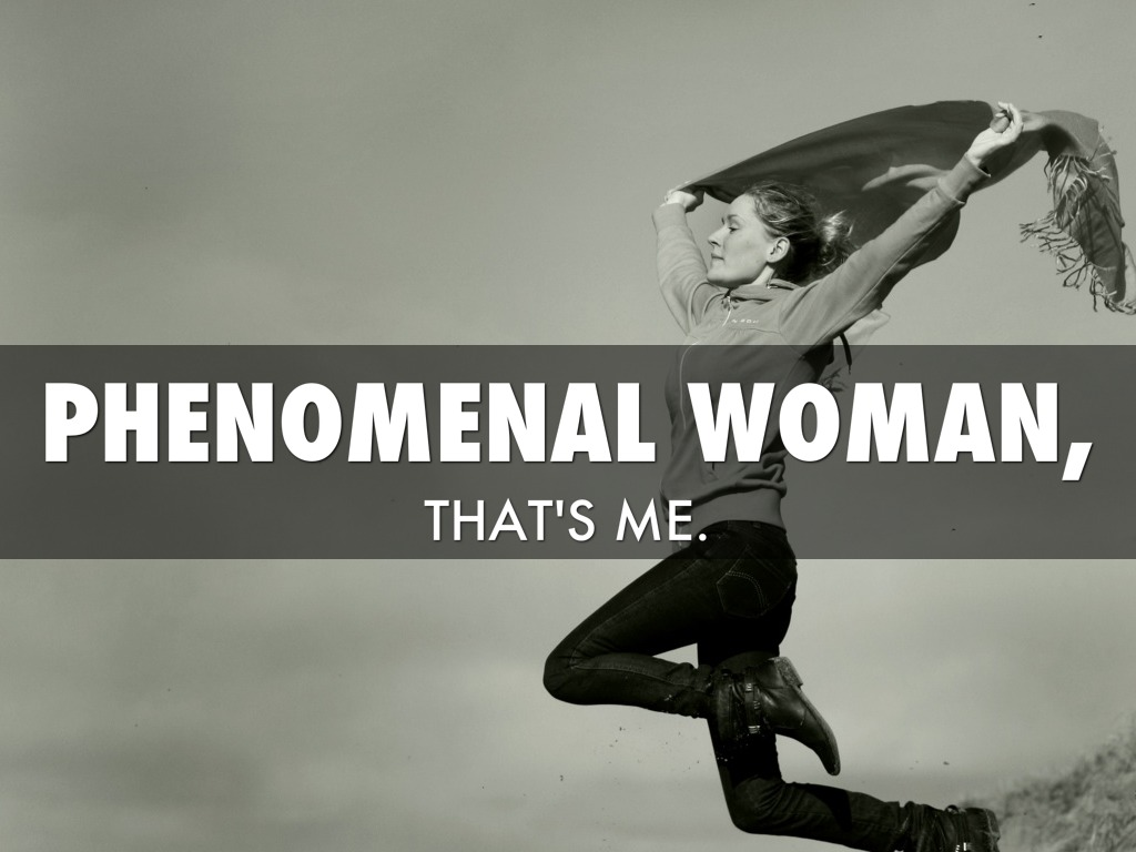 """phenomenal woman Summary of phenomenal woman by maya angelou stanza 1: """"phenomenal woman"""" begins with a savage attack on stereotypesshe proudly declares that neither she has an hourglass figure, nor she has a cute face her success without essential feminine traits surprises pretty women and they often want to know the secret of her success."""
