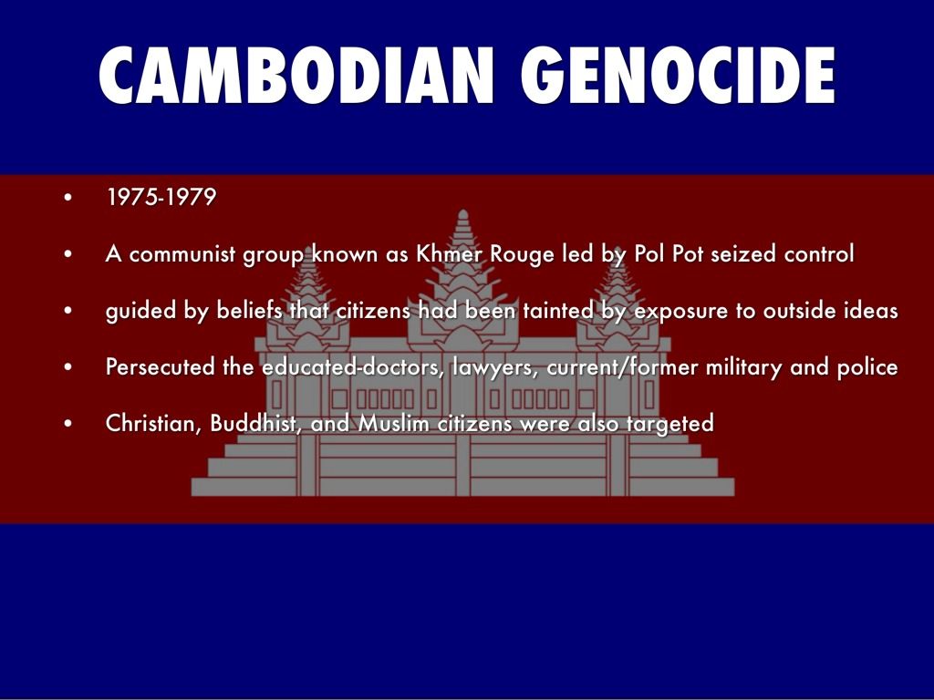 the genocide caused by khmer rogue in cambodia The last two surviving leaders of cambodia's khmer rouge regime are to begin their second trial, this time for genocide, in phnom penh.