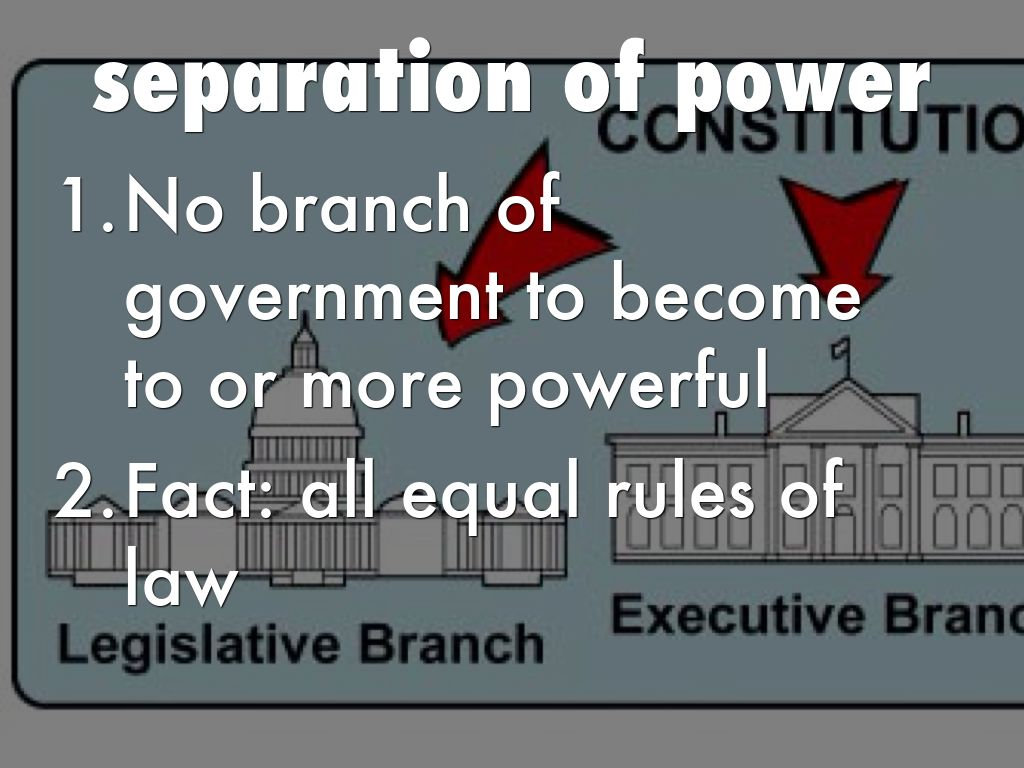 seperation of power