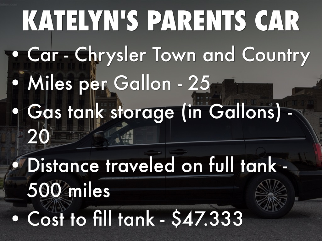 Katelyn S Pas Car Chrysler Town And Country Miles Per Gallon