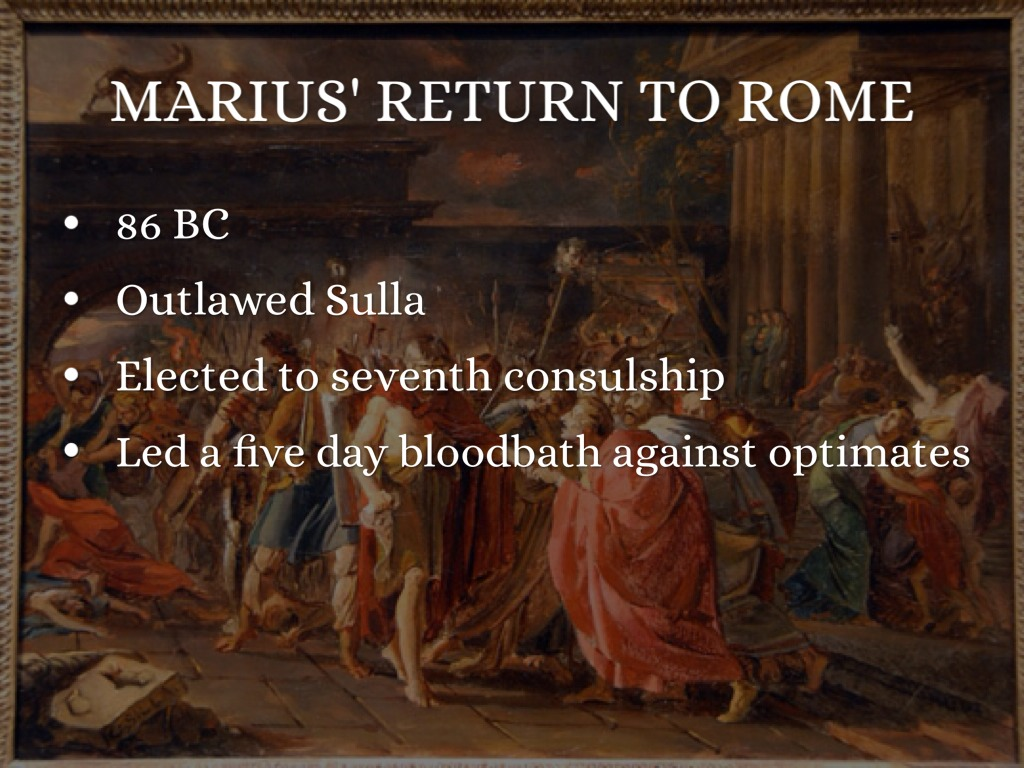 sullas reforms Sulla was the exponent of a decadent patriciate that tried everything in its power to save itself by instituting reforms that, while not without democratic aspects, lacked inner vitality from the long-term perspective sulla's actions seem meaningless but viewed in their historical context they are justified by the transitional character.