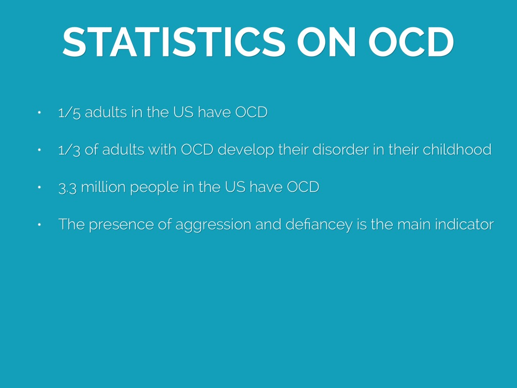 obsessive compulsive disorder 3 essay In psychology, obsessive-compulsive disorder, also known as ocd, is classified as an anxiety disorder, meaning that people that experience ocd suffer from intense mental state of stress, apprehension, and fear.