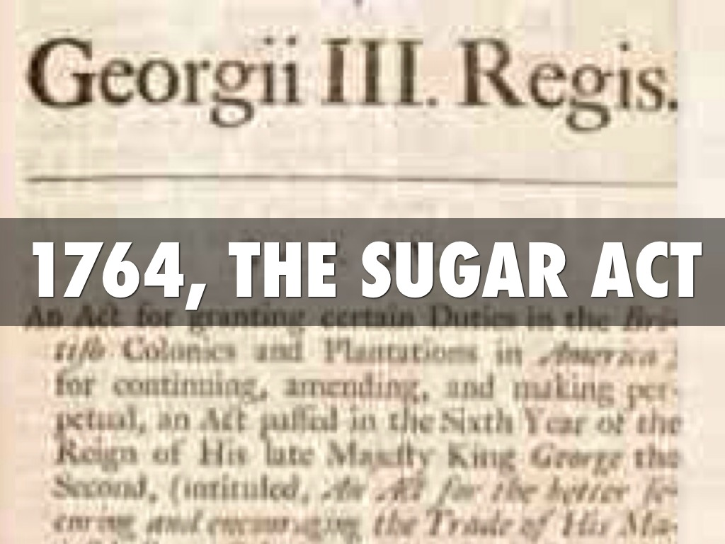Sugar act date