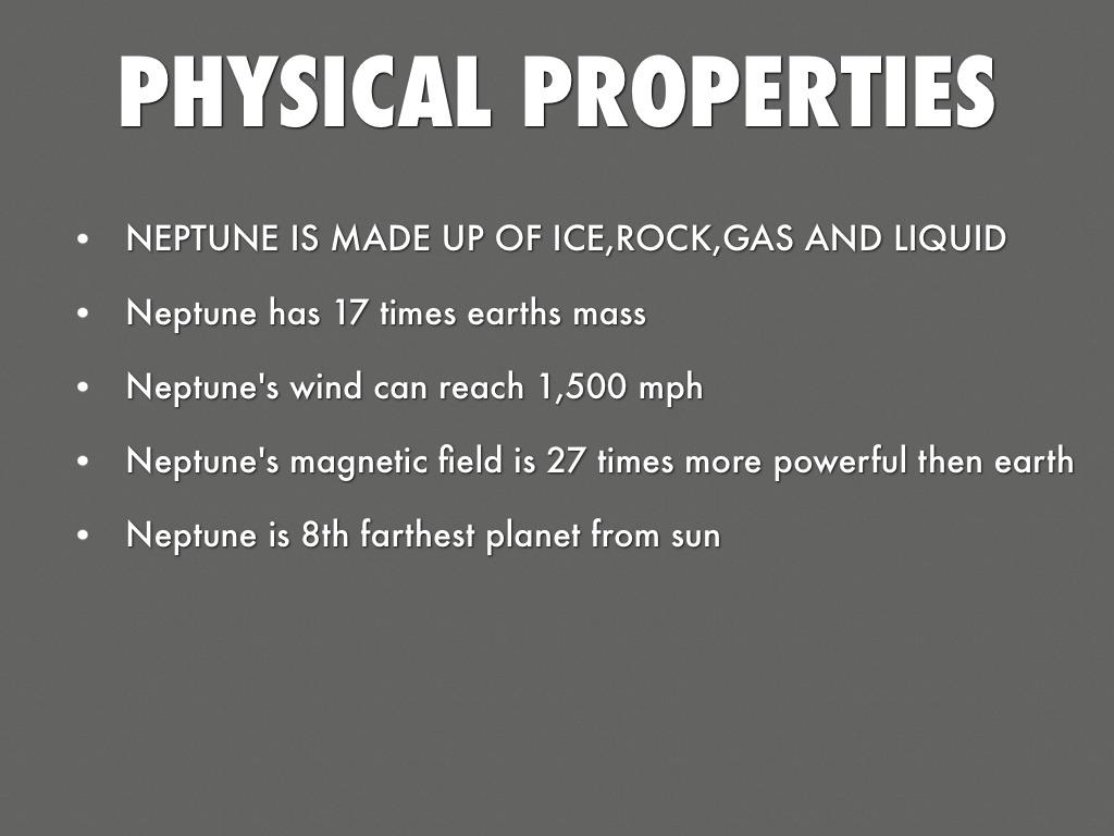 Neptune Physical Properties