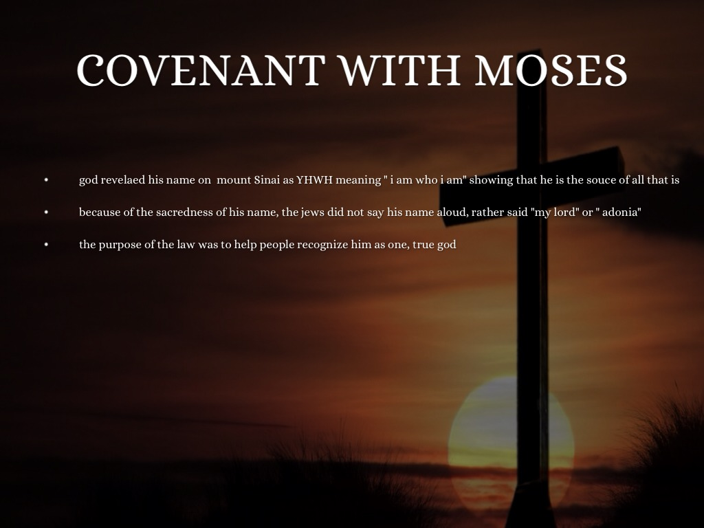 gods covenant with moses essay Abraham's covenant with god a) sign up to view the whole essay and download the pdf for anytime access on your computer, tablet or smartphone.