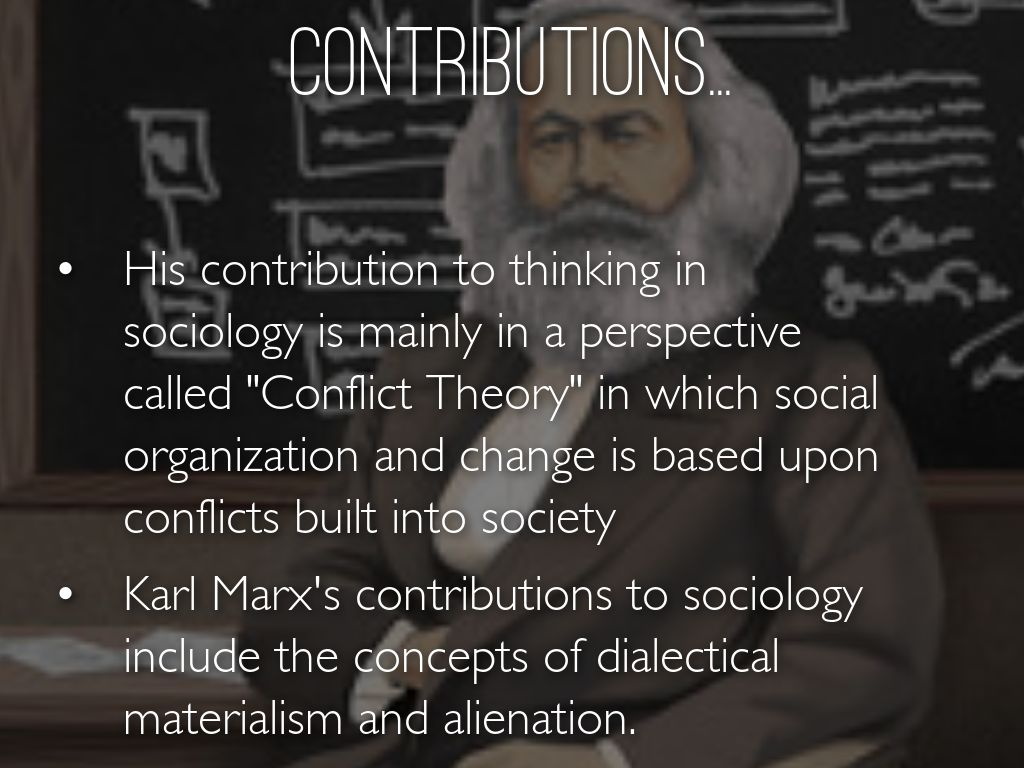 marxism and its contribution to the By karl marx   •      karl marx, a contribution to the critique of   the struggle between capital and labour and its results  400 preface to.