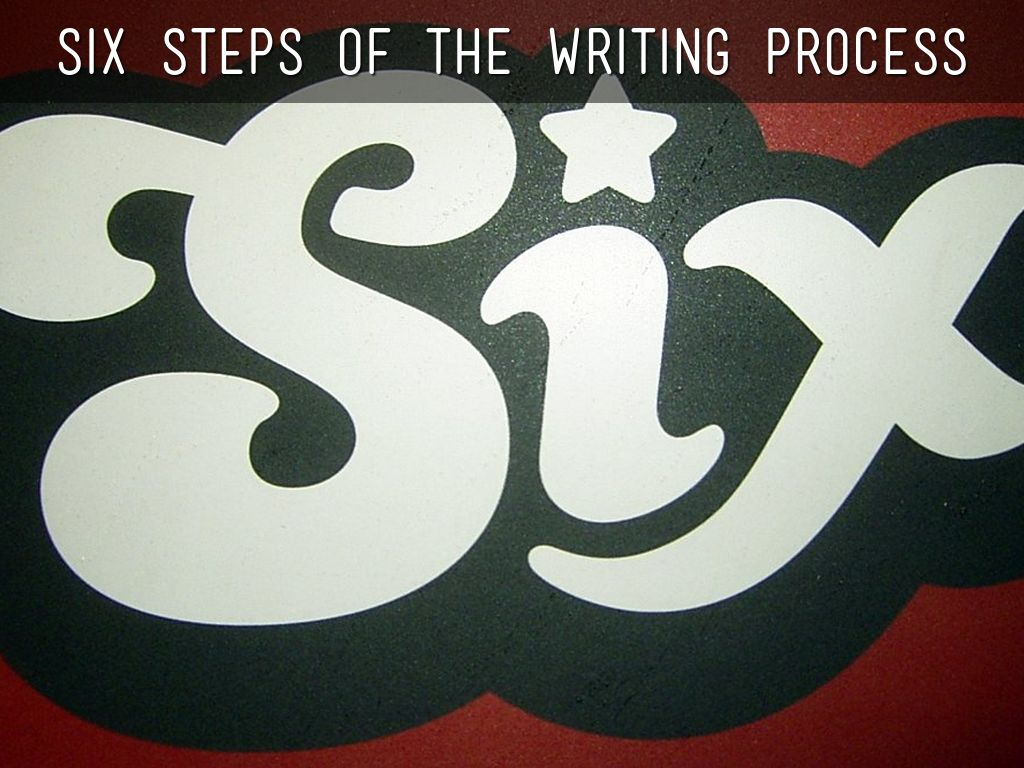 the six steps of the writing process