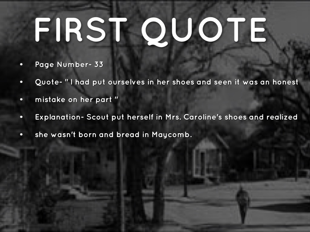 Walk In Shoes Quote From To Kill A Mockingbird