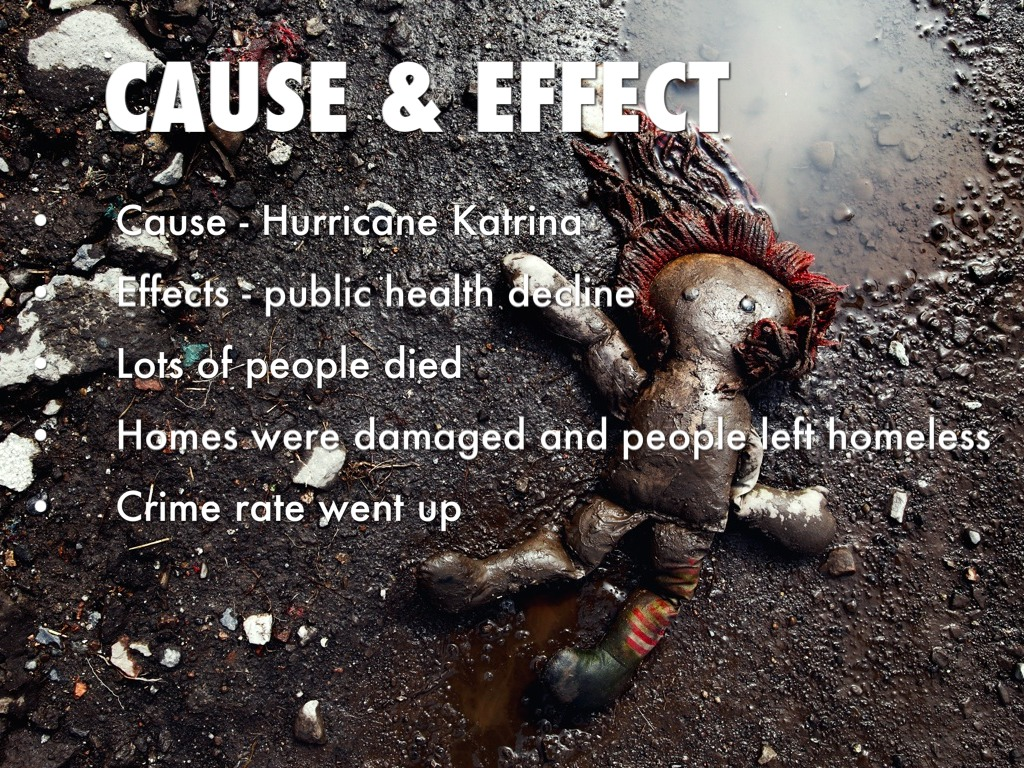 cause and effect essays on hurricane katrina Hurricane katrina and human geography cause and effect cite this cause and effect essay: a persuasive essay on how hurricane katrina exposed racism and.