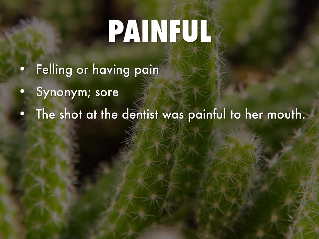 Vocabulary Project By Abigael Melanson Sore, hurting, smarting, aching, raw   collins english thesaurus. haiku deck