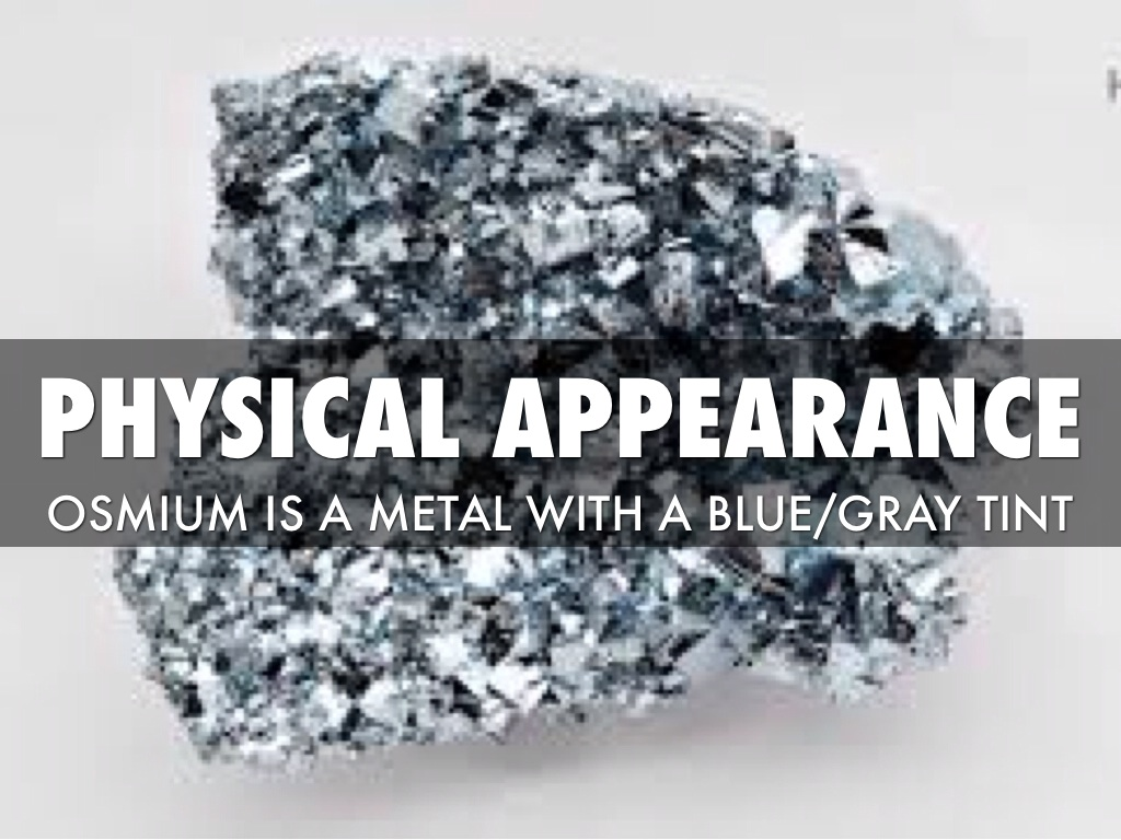element osmium A short film about the chemistry of osmium, presented by the periodic table of videos.