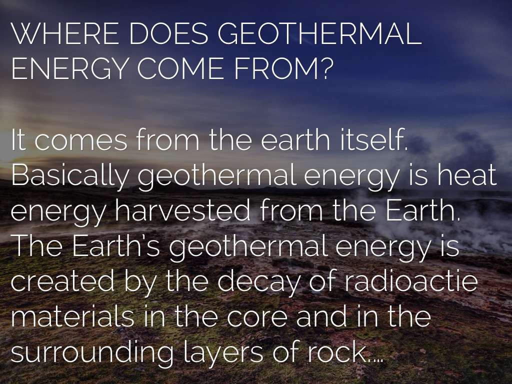 energy comes from the earth 4