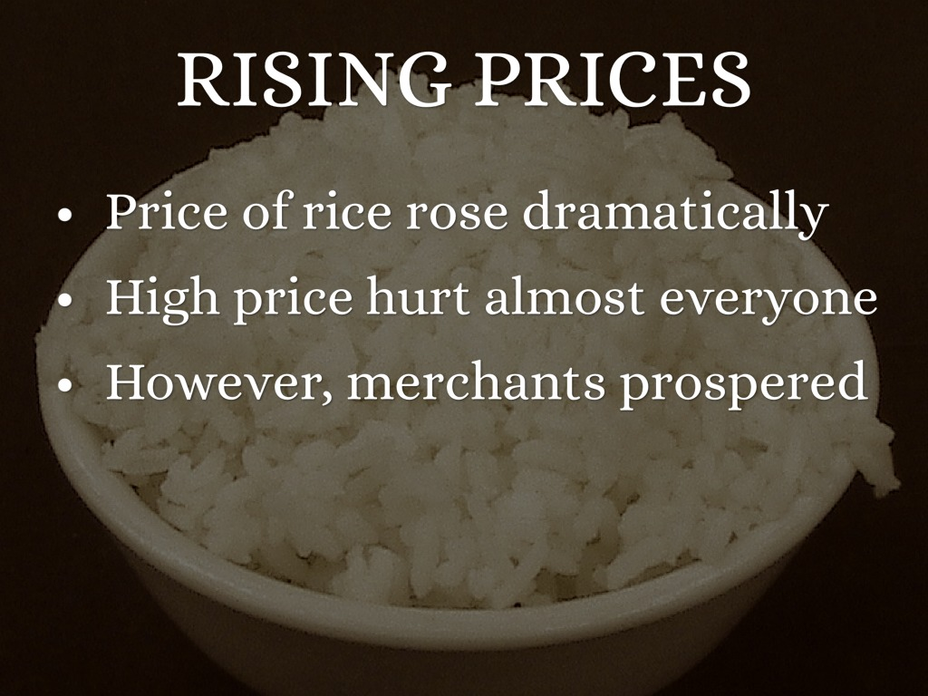 rising rice price Commodity traders and market experts are said to be keeping a keen eye on the prices of both rice and corn as experts feel that the rising corn prices could act.